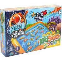 Игра большая «Клевая рыбалка и «Кинетический песок»