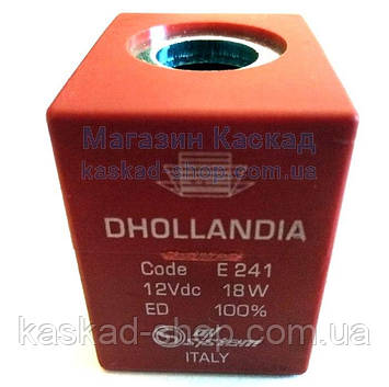 Электромагнитная катушка HYDAC-12В с разъемом для клапана гидроцилиндра  Dhollandia  старого образца (E0241), фото 2