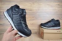 Мужские зимние кроссовки New balance 574 высокие черные Реплика, фото 1
