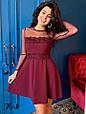Платье мини «Люкс» сетка-горох с кружевом , фото 2