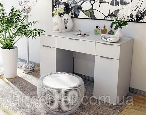 Белый туалетный стол, косметический стол, письменный стол
