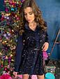 Платье-рубашка с пайетками «Лолита» , фото 3