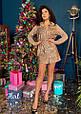 Платье-рубашка с пайетками «Лолита» , фото 2