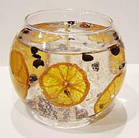 Свеча гелевая Чародейка шар с кофе 2005