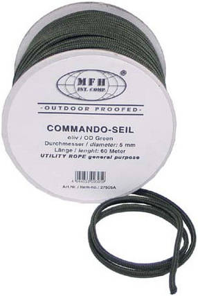 Верёвка 5мм х 60м оливковая MFH 27505A , фото 2