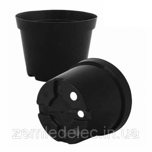 Горщик для квітів чорний Fо9