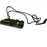Спасательный свисток компас термометр фонарик, фото 1