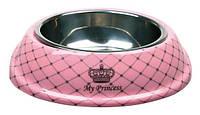 Trixie - 25221 My Prince Миска для кошек и собак из нержавеющей стали и меламина розовая