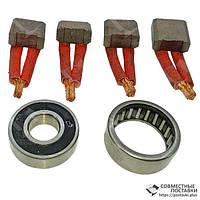 Ремкомплект стартера МТЗ (Чех) комплект 4 щетки + 2 подшипника 123703001.6