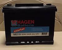 Аккумулятор HAGEN 62A  540Ah  12V (правый +)