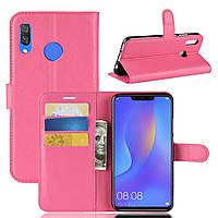 Чехол для Huawei P Smart Plus / Nova 3i / INE-LX1 книжка PU-Кожа розовый