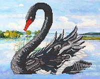 Схема для вышивки бисером Черный лебедь РКП-204