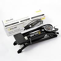 Ножной насос с манометром для автомобиля Solar FT211
