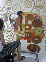 Художественная роспись стен акрилом