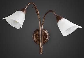 Бра флористика 2 лампы бронзовый AR-004580