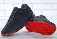 Зимние мужские кроссовки Nike Air Max 90 VT серые Winter с мехом. Реальное фото. Топ реплика