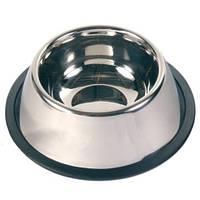 Trixie - 2488 Металлическая миска для собак и кошек из нержавеющей стали против скольжения