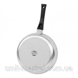 Сковорода алюмінієва Біол сотейник з кришкою Блиск 24 см (2409БК), фото 2
