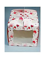 Тортовая упаковка 230*230*210 (мелованный картон принт письмо)