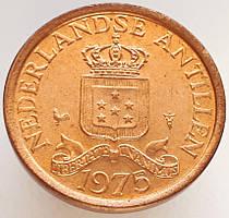 Нидерландские Антилы 1 цент 1975 UNC