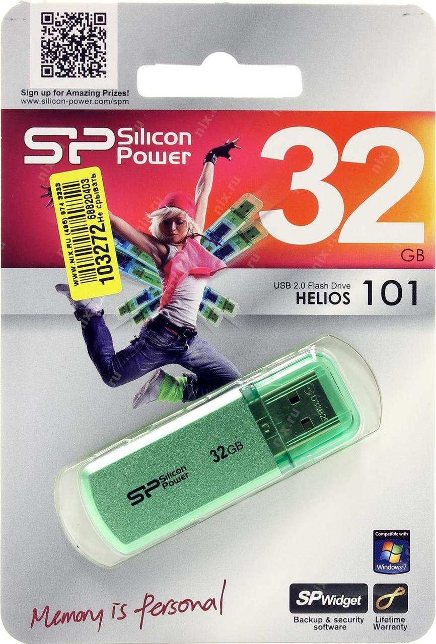 """USB-Flash 32 Gb """"SP"""" Helios 101 Green"""