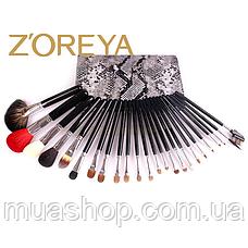 Натуральные кисти Z'OREYA  24 шт в чехле (Черный питон), фото 2