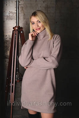 Платье-туника из шерсти