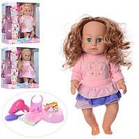 Кукла 317012A8-B13-C7-D12 42 см, горшок, бутылка, фен, посуда, расческа, звук, пьет-писяет