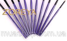 Натуральные кисти Z'OREYA 24 шт в чехле (Фиолетовый питон), фото 3