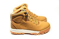 Зимние ботинки на меху в стиле Nike Lunarridge, песочные . Код товара: ДП - 1-137