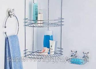Полиця кутова для ванної кімнати