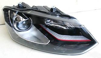 Передние фары тюнинг оптика VW Volkswagen Polo Mk5 стиль GTI