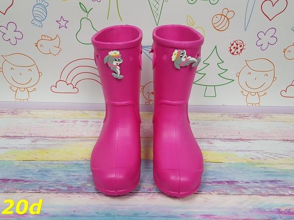 Детские резиновые сапоги для девочки Розовые