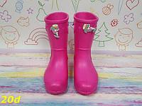 Детские резиновые сапоги для девочки Розовые, фото 1