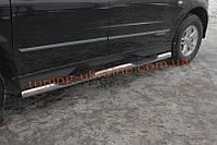 Пороги труба боковые подножки нержавейка на SsangYong actyon sport 2006-2012