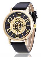 Женские часы Кружево Металл черные 044-02