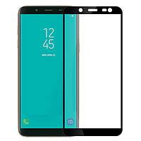 Samsung J8 (2018)  Защитное стекло Artis 2.5D CP+ на весь экран (цветное) для Samsung Galaxy J8 (2018) Черное                   на Самсунг