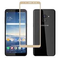 Samsung J600F Galaxy J6 (2018)  Гибкое защитное стекло Caisles 5D (на весь экран) для Samsung J600F Galaxy J6 (2018) Золотое                   на