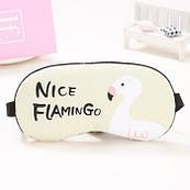 Podarki Маска для сна с гелем внутри Nice Flamingo