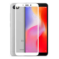 Xiaomi Redmi 6  Гибкое защитное стекло Caisles 5D (на весь экран) для Xiaomi Redmi 6 Белое                   на Ксяоми