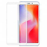 Xiaomi Redmi 6A  Гибкое защитное стекло Caisles 5D (на весь экран) для Xiaomi Redmi 6A Белое                   на Ксяоми