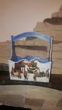 Красивый ящик к Новому году, декупаж, дерево и фанера, 19х18х12см., 290/260 (цена за 1 шт. + 30 гр.), фото 6