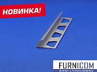 Уголок для плитки алюминиевый 24х11,5 / AS 2,7 м