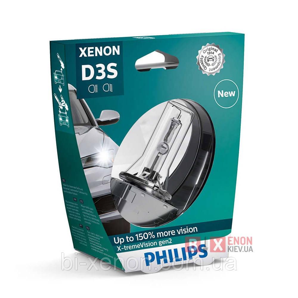 Ксеноновая лампа PHILIPS 42403XV2S1 D3S X-treme Vision gen2 +150%