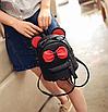 Рюкзак сумка женский трансформер Mikki Черный, фото 3