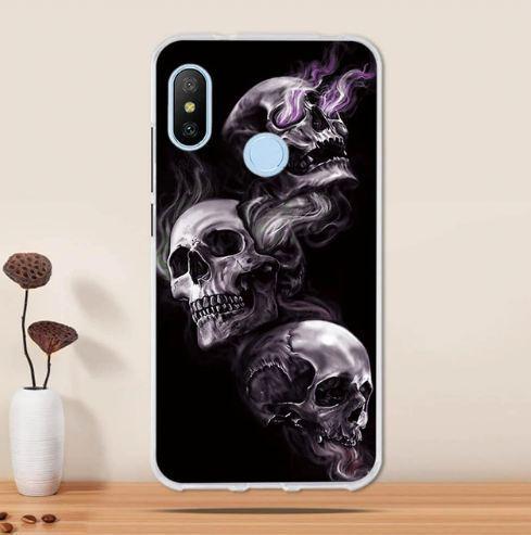 Оригінальний чохол накладка для Huawei P Smart plus з картинкою Три черепа