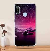 Оригинальный чехол накладка для Huawei P Smart plus с картинкой Звездное небо