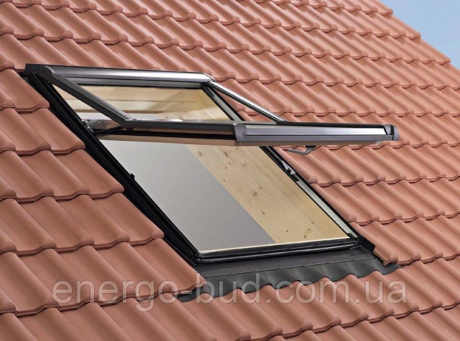 Вікно мансардне Designo зі шторкою акційне WDF R75 H N AL 07/11