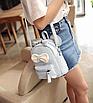 Рюкзак сумка женский трансформер Mikki Голубой, фото 4