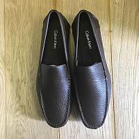 Лоферы Calvin Klein Menton Tumbled Leather Med Brown